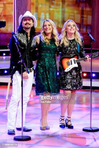 German singer and presenter Stefanie Hertel her husband German singer Lanny Lanner and her daughter German singer Johanna Mross as band More than...