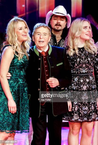 German singer and presenter Stefanie Hertel with her father Eberhard Hertel her husband Lanny Lanner and her daughter Johanna Mross at Die groe Show...