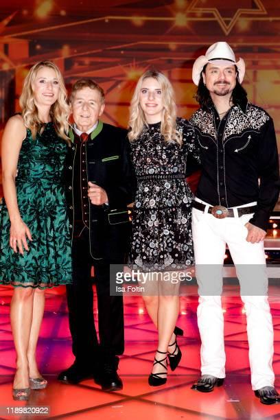 German singer and presenter Stefanie Hertel with her father Eberhard Hertel her daughter Johanna Mross and her husband Lanny Lanner at Die groe Show...