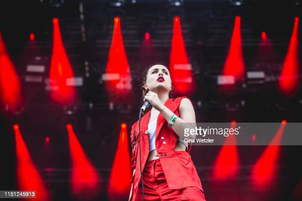German singer and songwriter Alice Merton performs live on stage during the Hurricane festival on June 21 2019 in Scheessel Germany