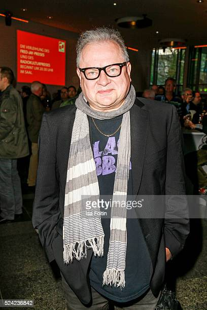 German singer and songwriter Heinz Rudolf Kunze attend the Fred Jay Award 2016 on April 25 2016 in Berlin Germany