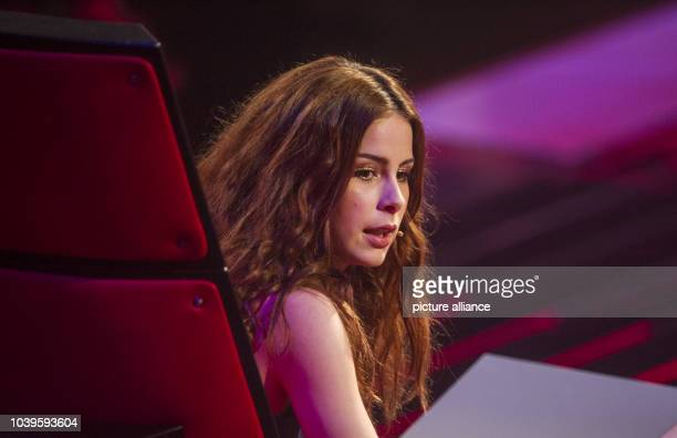 German singer and The Voice Kids coach Lena MeyerLandrut during the final of The Voice Kids in Berlin Germany 09 May 2014 Photo PAUL ZINKEN/dpa |...
