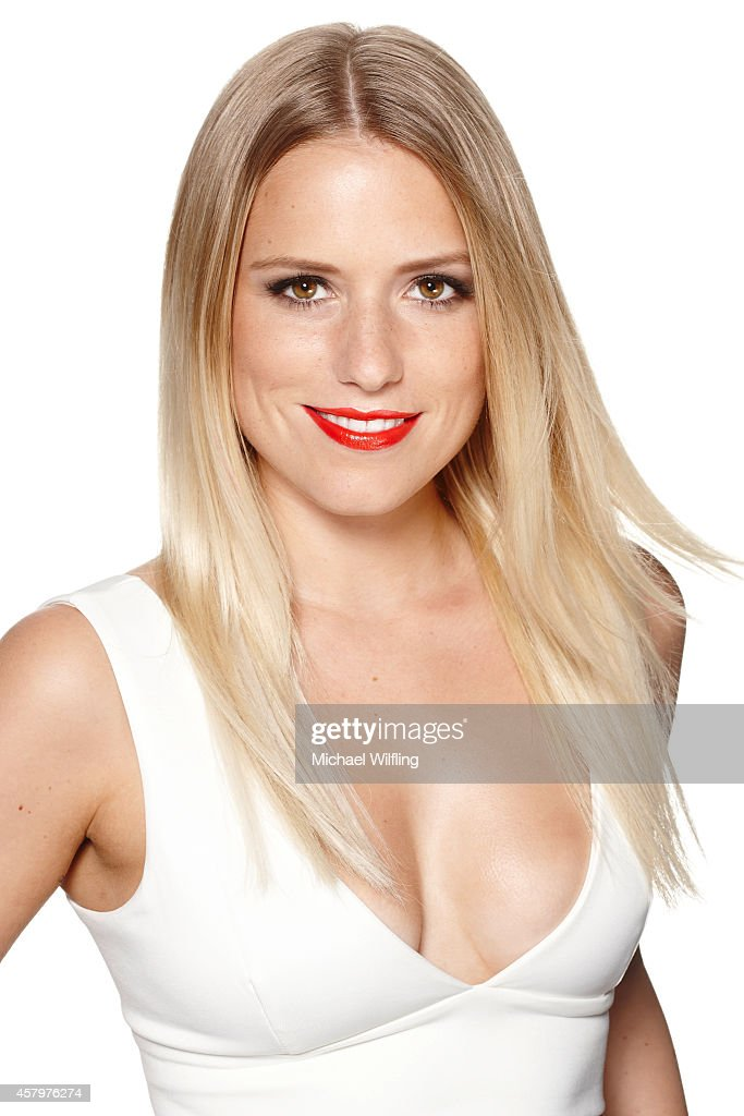German singer and TV host Vanessa Meisinger poses during a