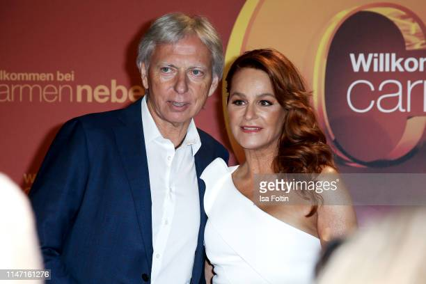 German singer Andrea Berg and her husband Ulrich Ferber during the television show 'Willkommen bei Carmen Nebel' at Velodrom on May 4 2019 in Berlin...
