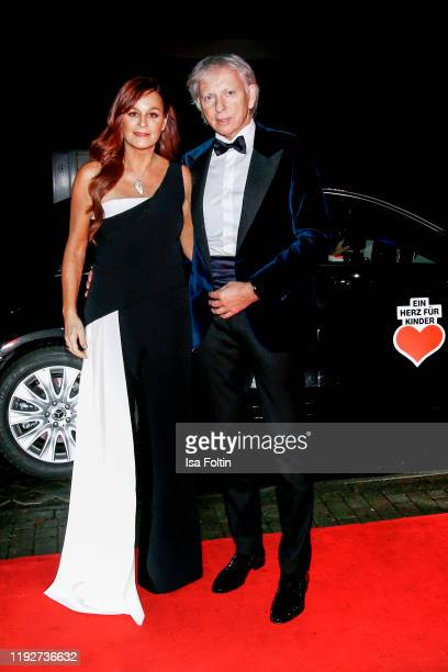"German singer Andrea Berg and her husband Ulrich Ferber during the Daimlers ""BE A MOVER"" event at Ein Herz Fuer Kinder Gala at Studio Berlin..."