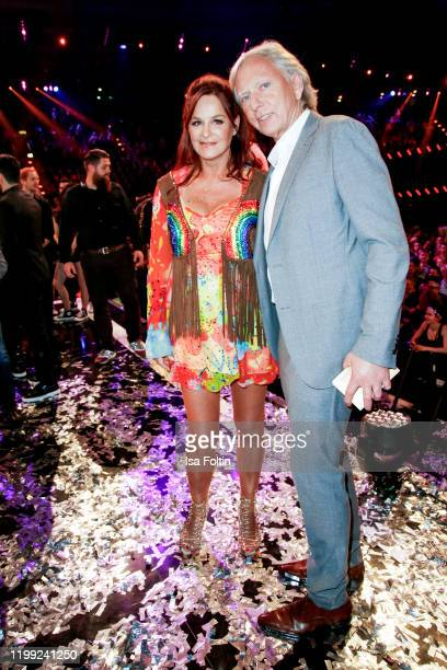 German singer Andrea Berg and her husband Ulrich Ferber during the television show Schlagerchampions Das grosse Fest der Besten at Velodrom on...
