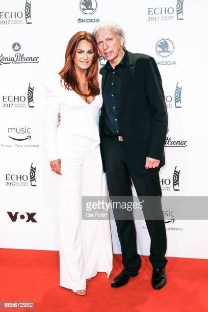 German singer Andrea Berg and her husband Ulrich Ferber during the Echo award red carpet on April 6, 2017 in Berlin, Germany.