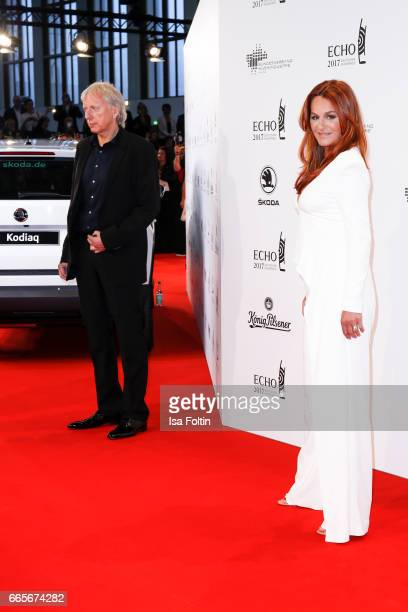 German singer Andrea Berg and her husband Ulrich Ferber during the Echo award red carpet on April 6 2017 in Berlin Germany