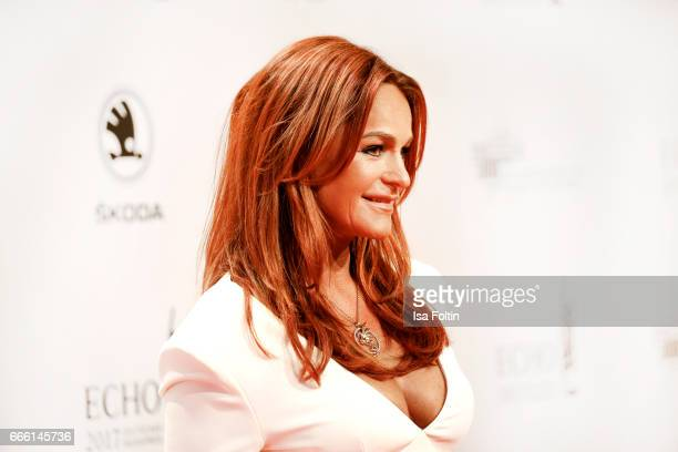 German singer Andrea Berg during the Echo award red carpet on April 6 2017 in Berlin Germany