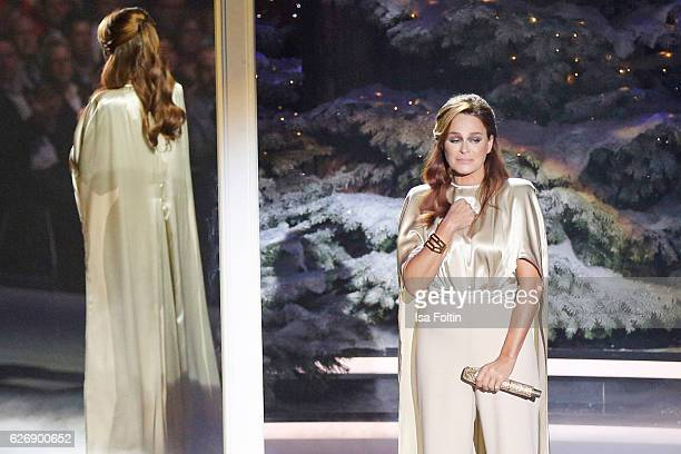German singer Andrea Berg performs at the tv show 'Die schoensten Weihnachtshits' on November 30 2016 in Munich Germany