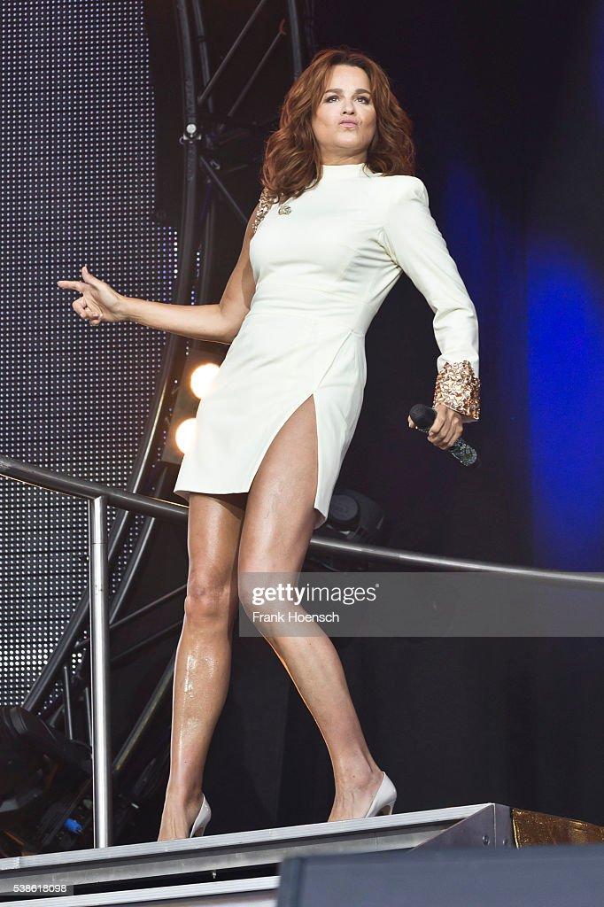 German singer Andrea Berg performs live during the Schlagernacht des Jahres at the Waldbuehne on June 4, 2016 in Berlin, Germany.
