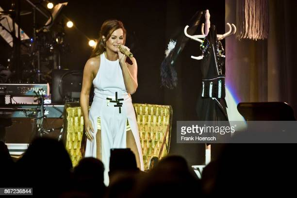 German singer Andrea Berg performs live on stage during a concert at the Tempodrom on October 27 2017 in Berlin Germany