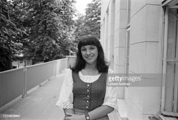 German singer Angelika Simon, Germany, 1960s.