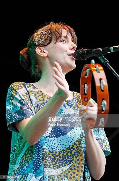 German singer Anna Depenbusch performs live in support of ZAZ during a concert at the Zitadelle Spandau on August 21 2011 in Berlin Germany
