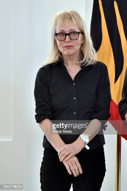 German singer Annette Humpe during the awarding with the Order of Merit of the Federal Republic of Germany on the occasion of the Day of German Unity...