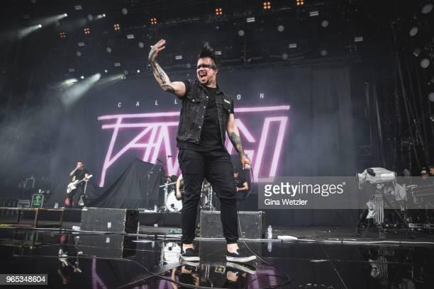 German singer Bastian Sobtzick of Callejon performs live on stage during Rock am Ring at Nuerburgring on JUNE 1 2018 in Nuerburg Germany