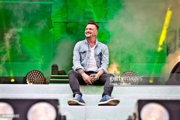 German singer Ben Zucker performs live during the show 'Die Schlagernacht des Jahres' at the Waldbuehne on June 16 2018 in Berlin Germany