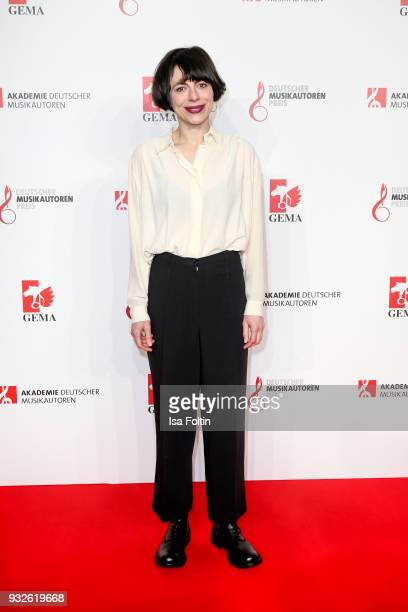 German singer Caethe during the German musical authors award on March 15 2018 in Berlin Germany
