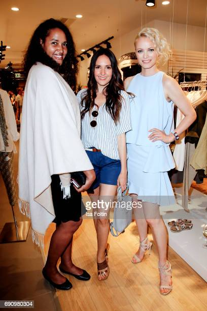 German singer Cassandra Steen German presenter Johanna Klum and model Franziska Knuppe attend the Yargici Flagship Store Opening at Levantehaus on...