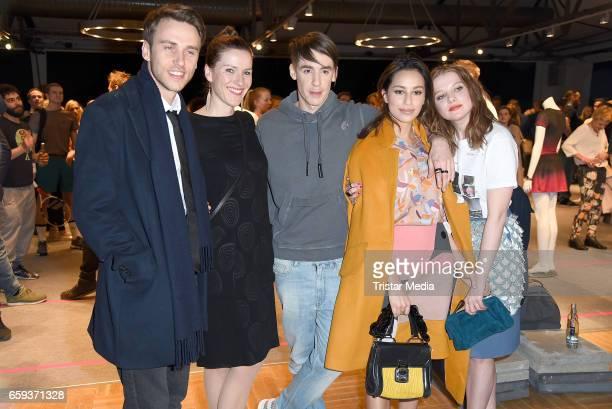 German singer Clueso german designer Kilian Kerner german actress Gizem Emre and german actress Jella Haase attend the BIDI BADU by Kilian Kerner...