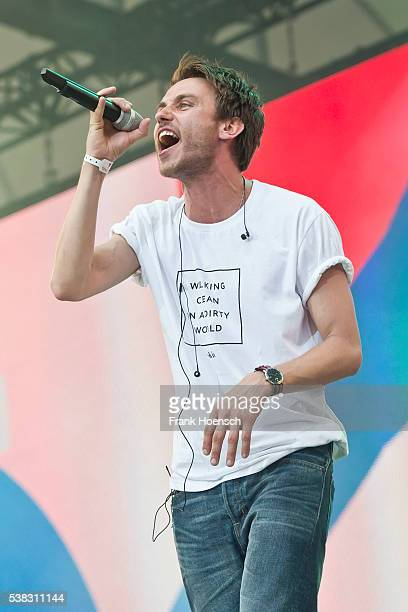 German singer Clueso performs live during the Peace X Peace Festival at the Waldbuehne on June 5 2016 in Berlin Germany
