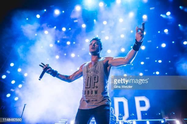 German singer Dag-Alexis Kopplin of SDP performs live on stage during Rock am Ring at Nuerburgring on June 7, 2019 in Nuerburg, Germany.