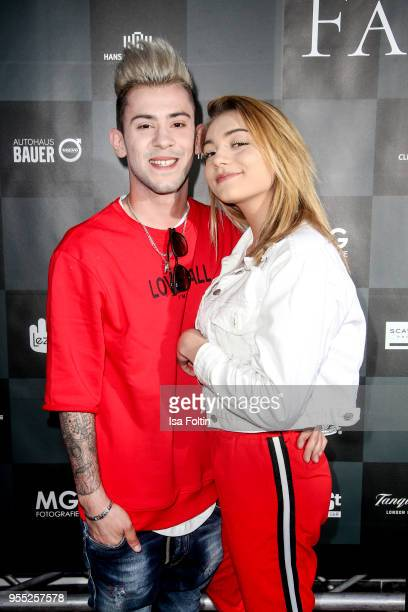 German singer Daniele Negroni and his girlfriend influencer Tina Neumann during the Face Fashion Gala at St Emmeram Castle on May 5 2018 in...