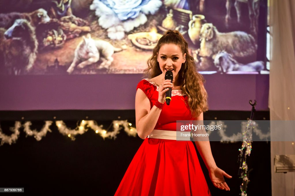 German singer Dominique Lacasa performs live on stage in support of Frank Schoebel during a concert at the Gethsemanekirche on December 7, 2017 in Berlin, Germany.
