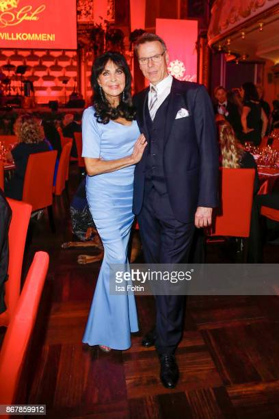 German singer Dunja Rajter and her husband Michael Eichler attend the 8th VITA Charity Gala on October 28, 2017 in Wiesbaden, Germany.