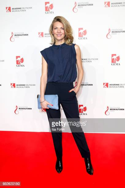 German singer Ella Endlich during the German musical authors award on March 15 2018 in Berlin Germany