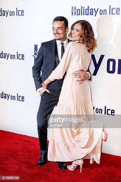 German singer Giovanni Zarrella and his wife brazilian model Jana Ina Zarrella attend the 'Holiday on Ice' gala at Hotel Atlantic on October 19, 2016...