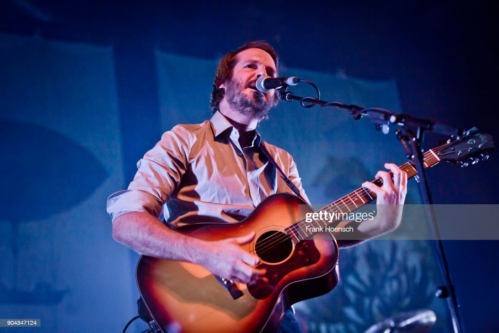 German singer Gisbert zu Knyphausen performs live on stage during a concert at the Columbiahalle on January 12, 2017 in Berlin, Germany.