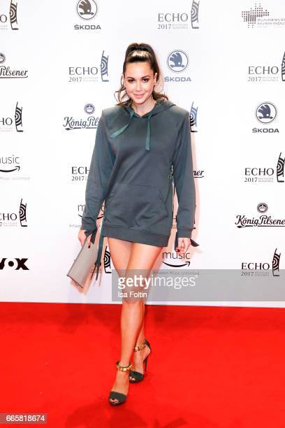German singer Grace Capristo during the Echo award red carpet on April 6 2017 in Berlin Germany