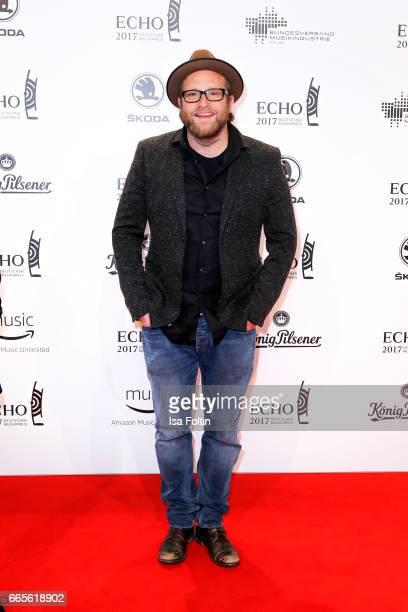 German singer Gregor Meyle during the Echo award red carpet on April 6 2017 in Berlin Germany