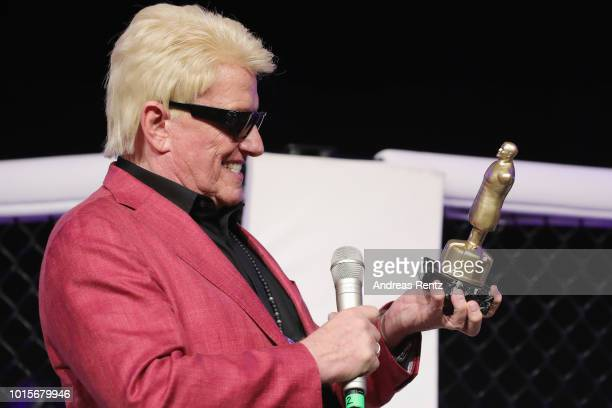 German Singer Heino receives the Lifetime Achievement Award Europe 2018 by Martial Arts Industry Association during the Martial Arts SuperShow Europe...