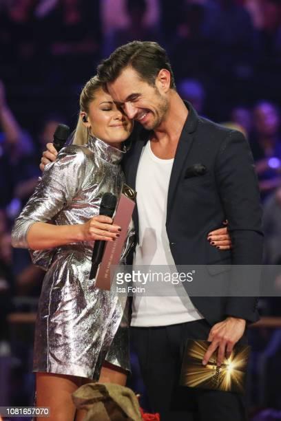 German singer Helene Fischer and German presenter Florian Silbereisen during the television show 'Schlagerchampions Das grosse Fest der Besten' at...