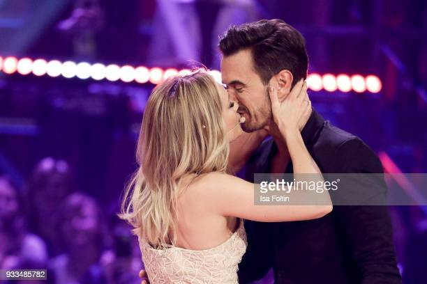 German singer Helene Fischer and her boyfriend German presenter and singer Florian Silbereisen during the tv show 'Heimlich Die grosse...