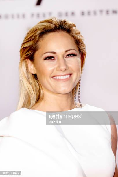 German singer Helene Fischer arrives at the television show 'Schlagerchampions Das grosse Fest der Besten' at Velodrom on January 12 2019 in Berlin...