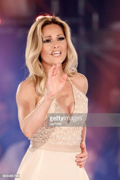 German singer Helene Fischer during the tv show 'Heimlich Die grosse SchlagerUeberraschung' on March 17 2018 in Munich Germany