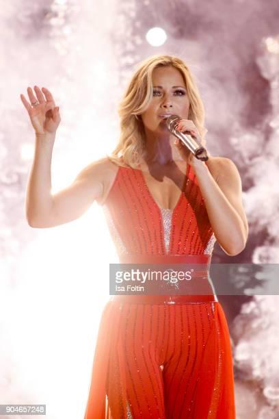 German singer Helene Fischer performs at the 'Schlagerchampions Das grosse Fest der Besten' TV Show at Velodrom on January 13 2018 in Berlin Germany