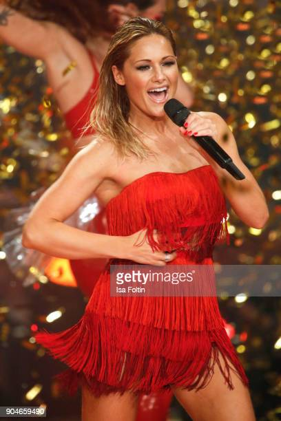 German singer Helene Fischer performs at the 'Schlagerchampions Das grosse Fest der Besten' TV Show at Velodrom on January 13 2018 in Berlin Germany