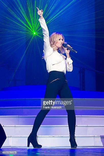 German singer Helene Fischer performs live during the 'Schlagernacht des Jahres' at the O2 World on November 23 2013 in Berlin Germany