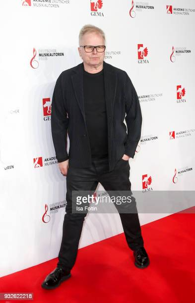 German singer Herbert Groenemeyer during the German musical authors award on March 15 2018 in Berlin Germany