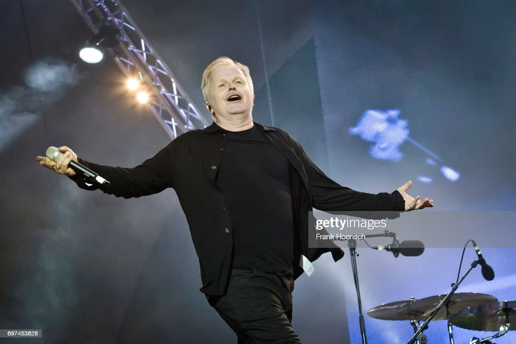 German singer Herbert Groenemeyer performs live on stage during the Peace X Peace Festival at the Waldbuehne on June 18, 2017 in Berlin, Germany.