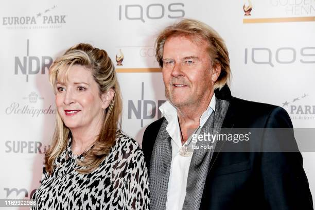 German singer Howard Carpendale and his wife Donnice Pierce attend the Goldene Henne at Messe Leipzig on September 20 2019 in Leipzig Germany