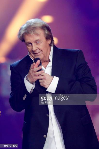 German singer Howard Carpendale performs during the television show Schlagerchampions Das grosse Fest der Besten at Velodrom on January 11 2020 in...