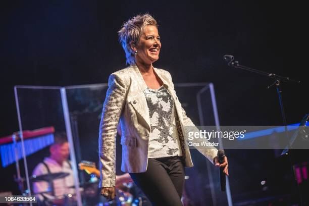 German singer Inka Bause performs live on stage during a concert at Admiralspalast on November 23, 2018 in Berlin, Germany.