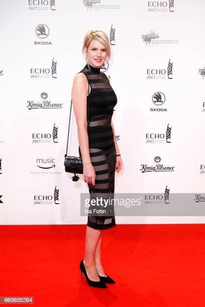 German singer Isabella Levina Lueen during the Echo award red carpet on April 6, 2017 in Berlin, Germany.