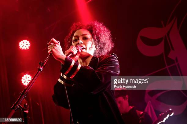 German singer Jadula Laciny aka Jadu performs live on stage during a concert at the Lido on March 24 2019 in Berlin Germany
