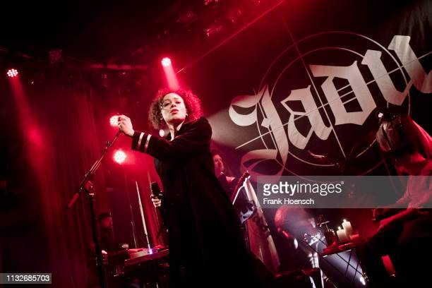 German singer Jadula Laciny aka Jadu performs live onstage during a concert at the Lido on March 24 2019 in Berlin Germany